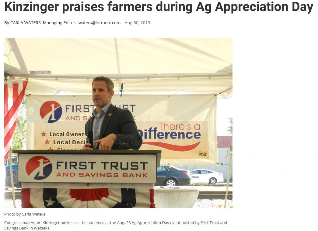 Kinzinger Newspaper Photo